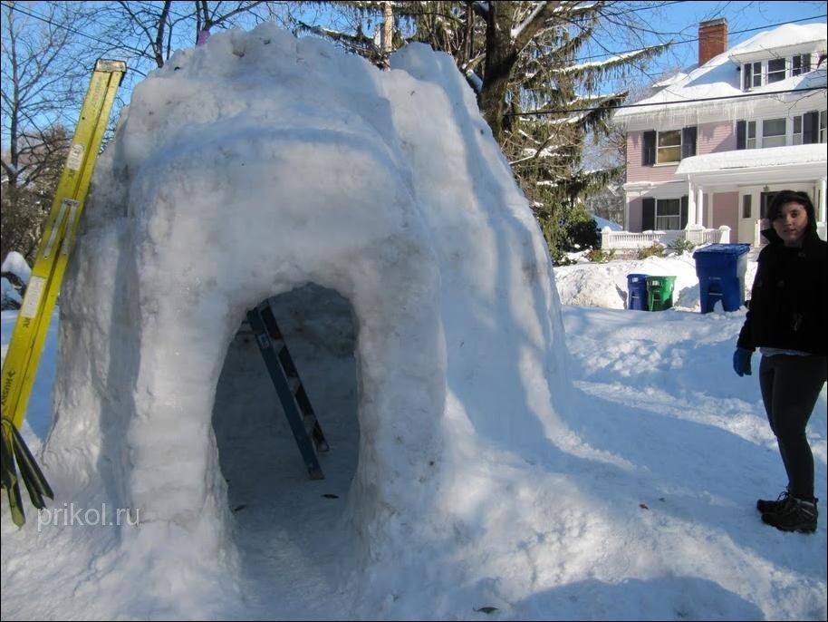 Как из снега сделать иглу 457